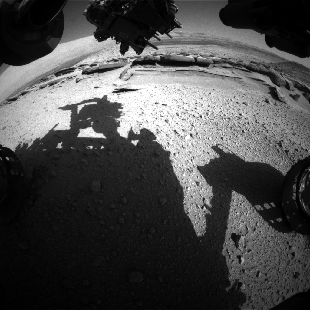 Nasa's Mars rover Curiosity acquired this image using its Front Hazard Avoidance Camera (Front Hazcam) on Sol 579, at drive 740, site number 30
