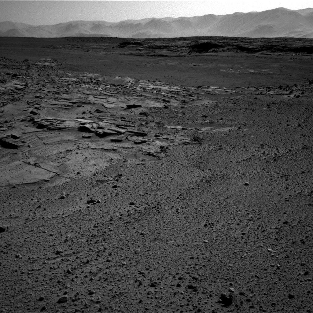 NASA's Mars rover Curiosity acquired this image using its Left Navigation Camera (Navcams) on Sol 579