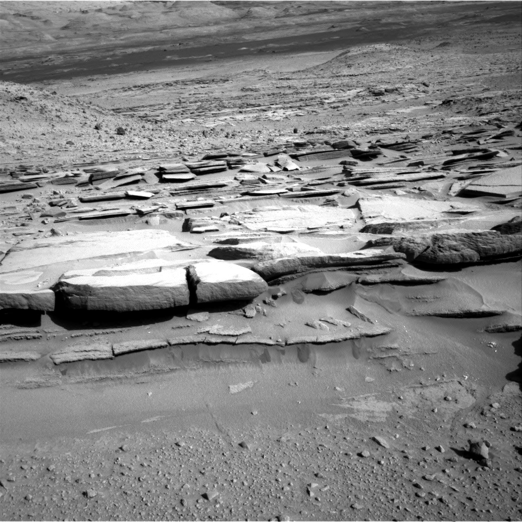 Nasa's Mars rover Curiosity acquired this image using its Right Navigation Camera on Sol 579, at drive 740, site number 30