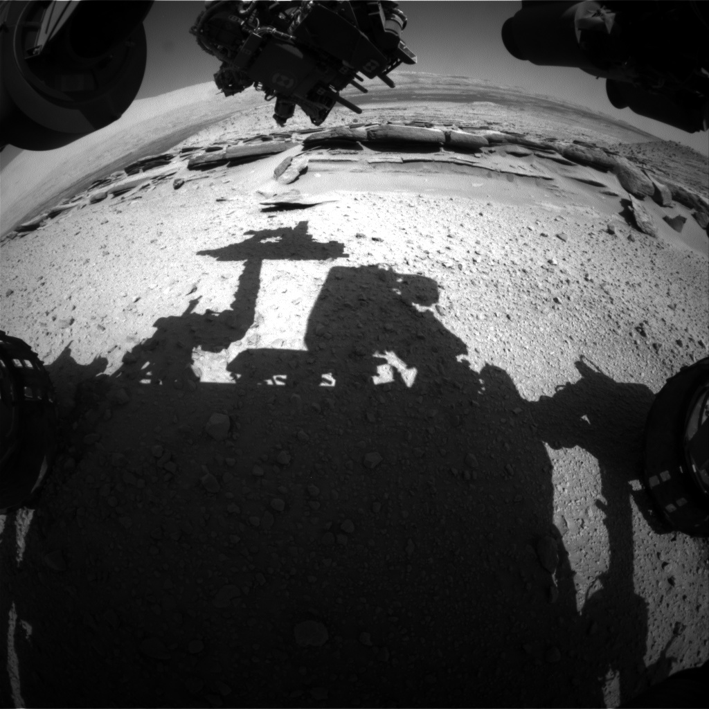Nasa's Mars rover Curiosity acquired this image using its Front Hazard Avoidance Camera (Front Hazcam) on Sol 580, at drive 740, site number 30
