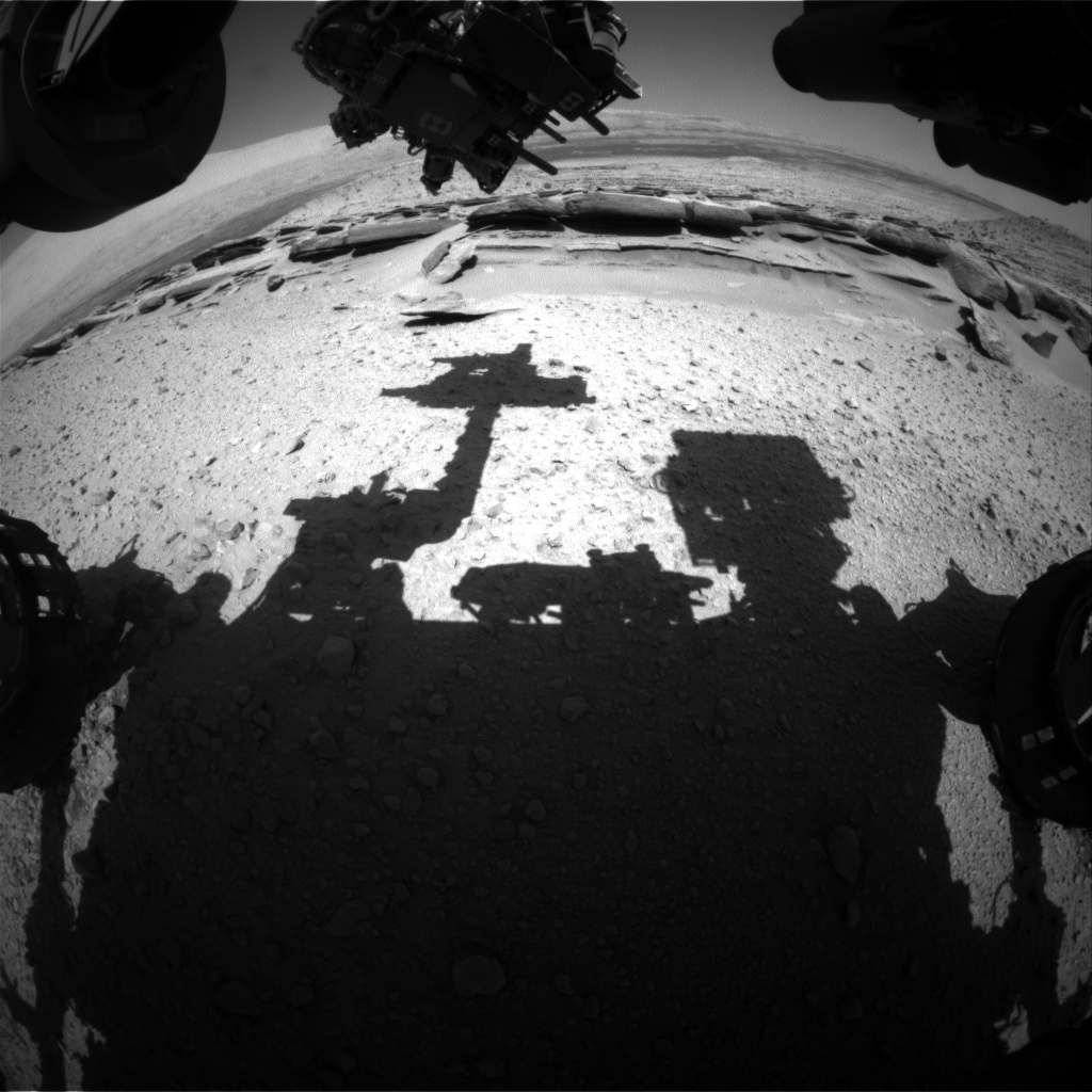 Nasa's Mars rover Curiosity acquired this image using its Front Hazard Avoidance Camera (Front Hazcam) on Sol 581, at drive 740, site number 30