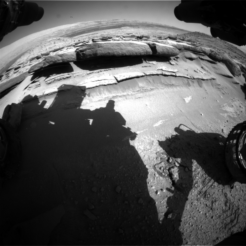 Nasa's Mars rover Curiosity acquired this image using its Front Hazard Avoidance Camera (Front Hazcam) on Sol 581, at drive 786, site number 30