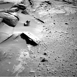 Nasa's Mars rover Curiosity acquired this image using its Right Navigation Camera on Sol 581, at drive 770, site number 30