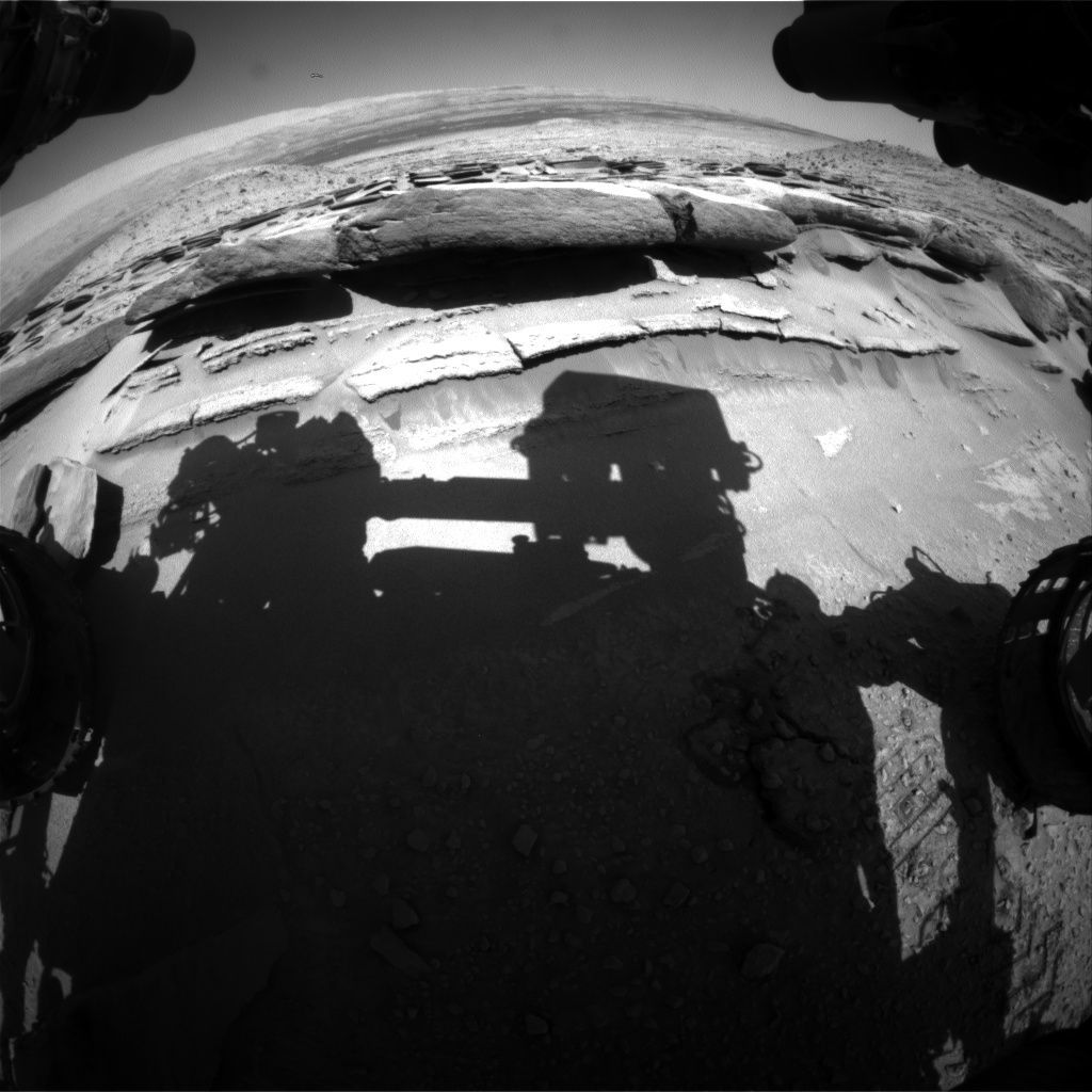 Nasa's Mars rover Curiosity acquired this image using its Front Hazard Avoidance Camera (Front Hazcam) on Sol 582, at drive 786, site number 30