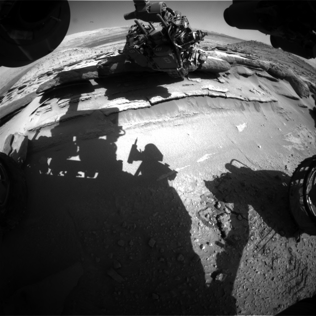 Nasa's Mars rover Curiosity acquired this image using its Front Hazard Avoidance Camera (Front Hazcam) on Sol 583, at drive 786, site number 30