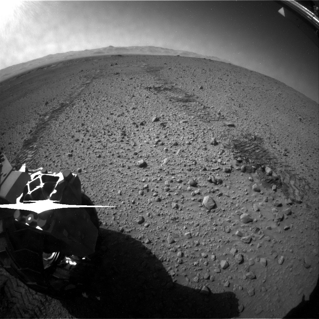 NASA's Mars rover Curiosity acquired this image using its Rear Hazard Avoidance Cameras (Rear Hazcams) on Sol 583