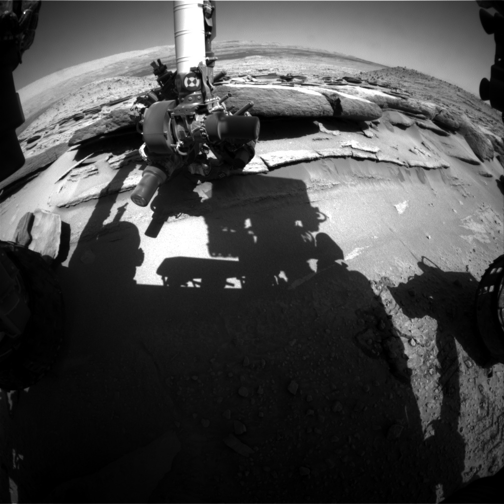 Nasa's Mars rover Curiosity acquired this image using its Front Hazard Avoidance Camera (Front Hazcam) on Sol 585, at drive 786, site number 30