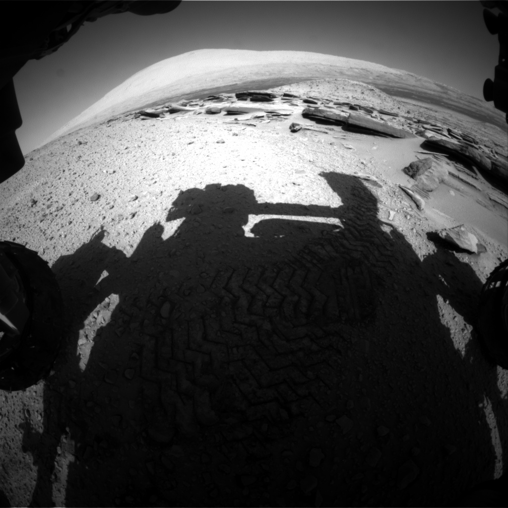 Nasa's Mars rover Curiosity acquired this image using its Front Hazard Avoidance Camera (Front Hazcam) on Sol 586, at drive 820, site number 30