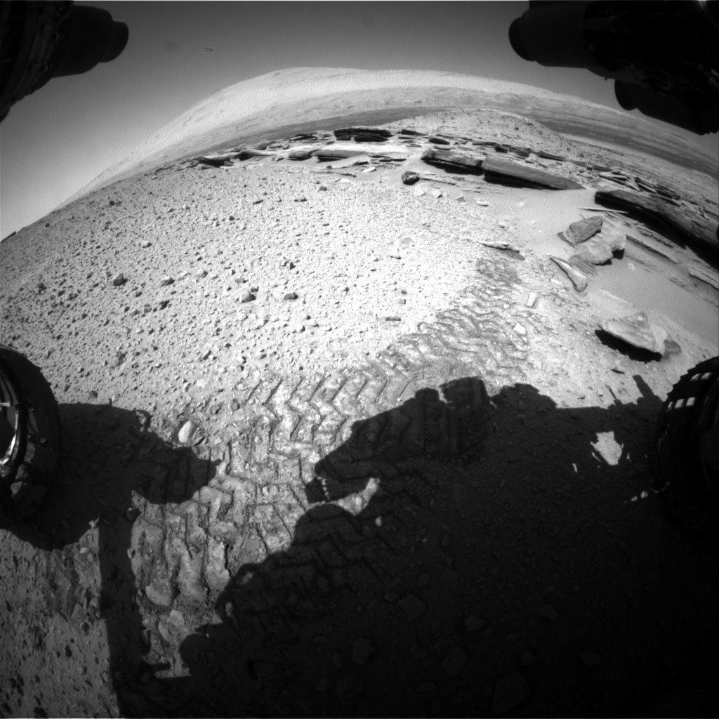 Nasa's Mars rover Curiosity acquired this image using its Front Hazard Avoidance Camera (Front Hazcam) on Sol 587, at drive 820, site number 30