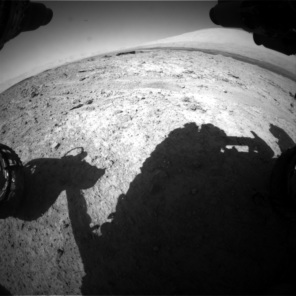 Nasa's Mars rover Curiosity acquired this image using its Front Hazard Avoidance Camera (Front Hazcam) on Sol 587, at drive 938, site number 30