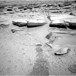 Nasa's Mars rover Curiosity acquired this image using its Left Navigation Camera on Sol 587, at drive 862, site number 30