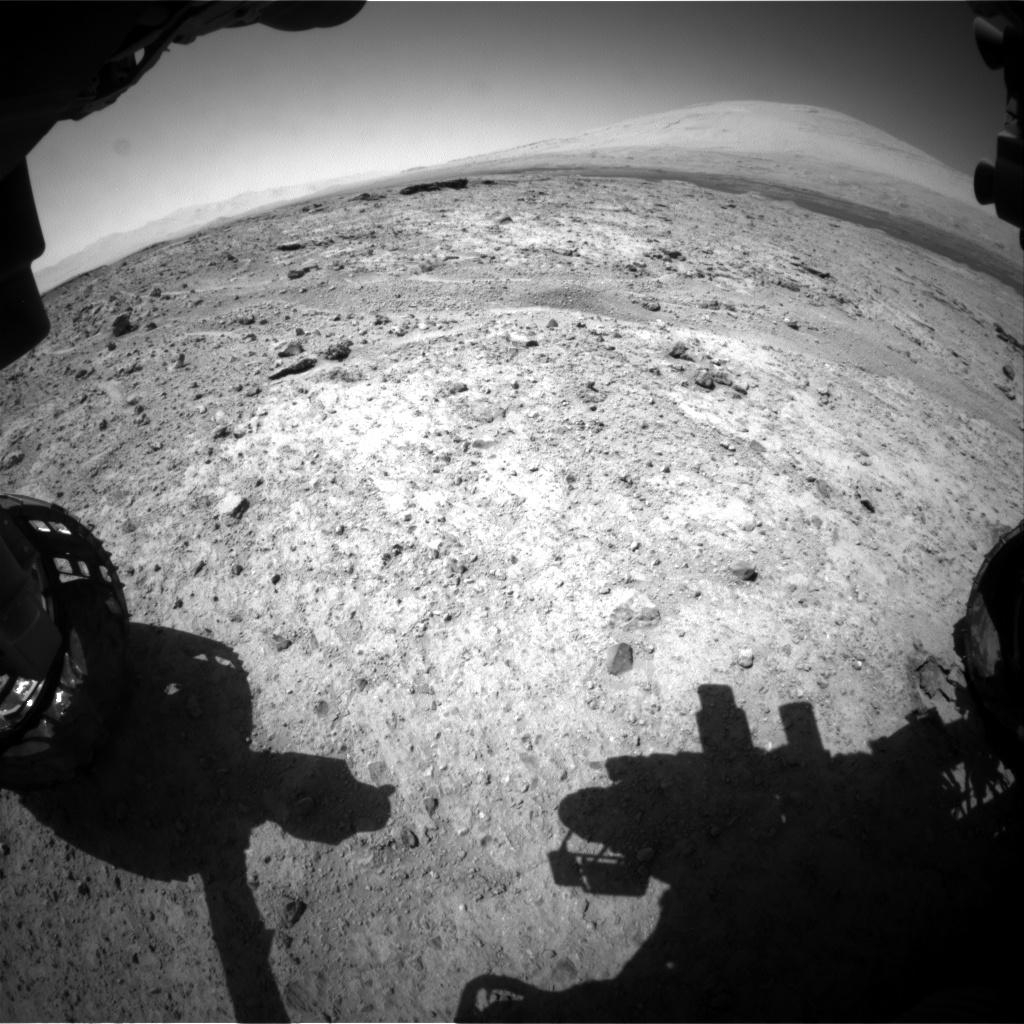 Nasa's Mars rover Curiosity acquired this image using its Front Hazard Avoidance Camera (Front Hazcam) on Sol 588, at drive 938, site number 30