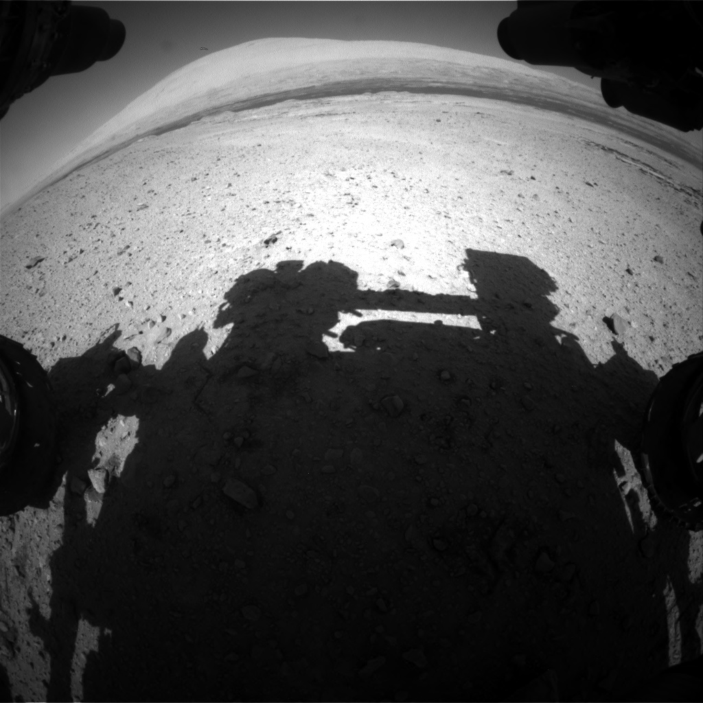 Nasa's Mars rover Curiosity acquired this image using its Front Hazard Avoidance Camera (Front Hazcam) on Sol 588, at drive 1254, site number 30