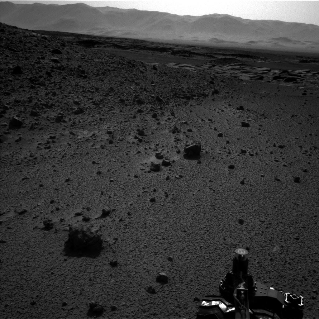 NASA's Mars rover Curiosity acquired this image using its Left Navigation Camera (Navcams) on Sol 588