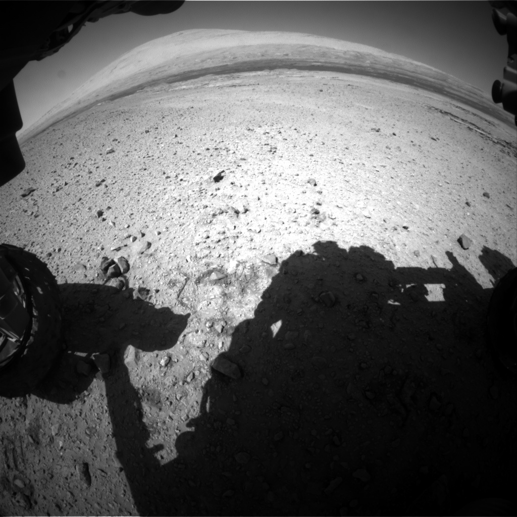Nasa's Mars rover Curiosity acquired this image using its Front Hazard Avoidance Camera (Front Hazcam) on Sol 589, at drive 1254, site number 30