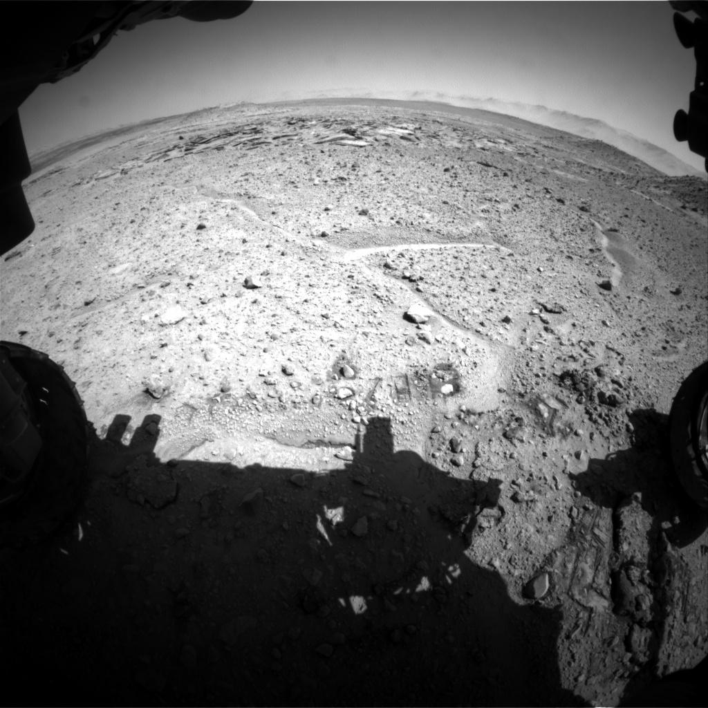Nasa's Mars rover Curiosity acquired this image using its Front Hazard Avoidance Camera (Front Hazcam) on Sol 590, at drive 0, site number 31