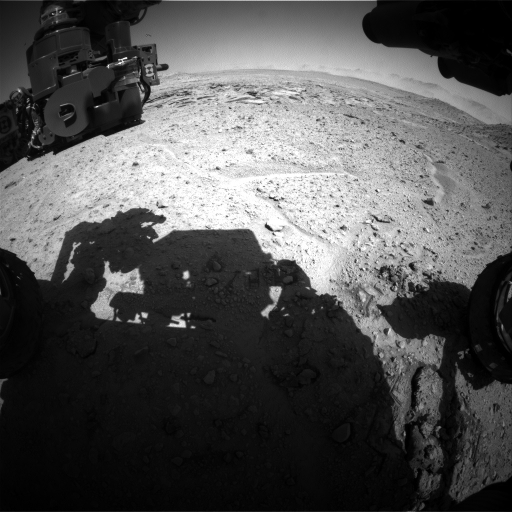 Nasa's Mars rover Curiosity acquired this image using its Front Hazard Avoidance Camera (Front Hazcam) on Sol 592, at drive 0, site number 31