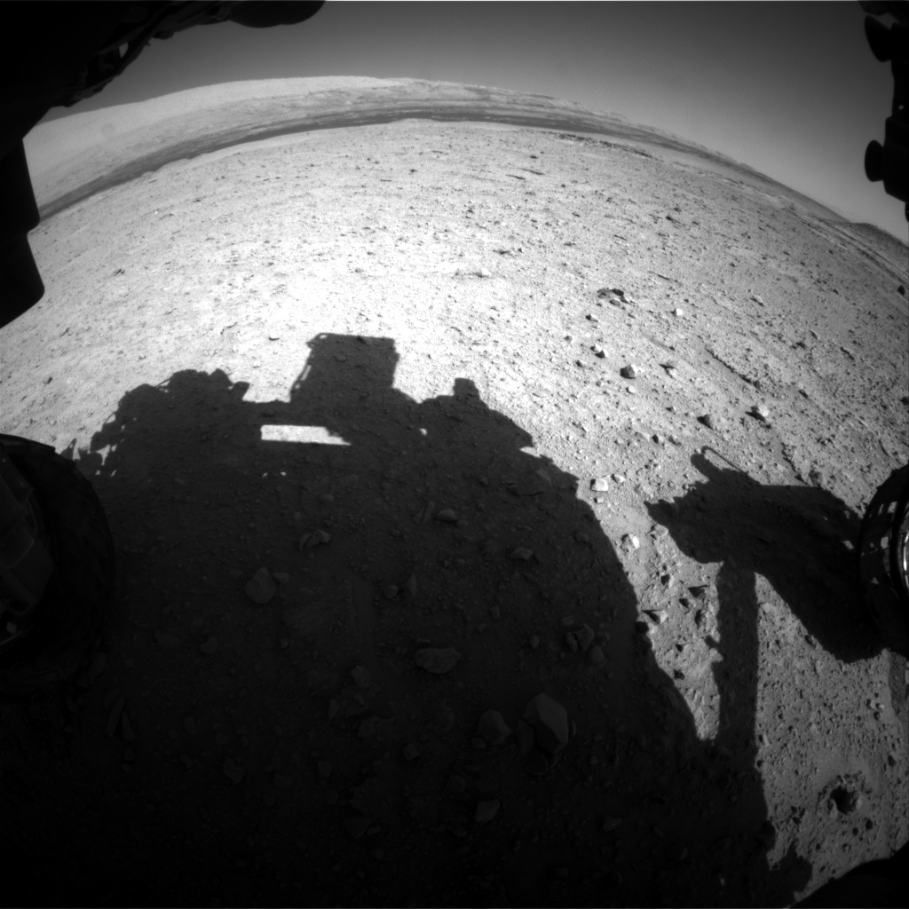 Nasa's Mars rover Curiosity acquired this image using its Front Hazard Avoidance Camera (Front Hazcam) on Sol 593, at drive 216, site number 31