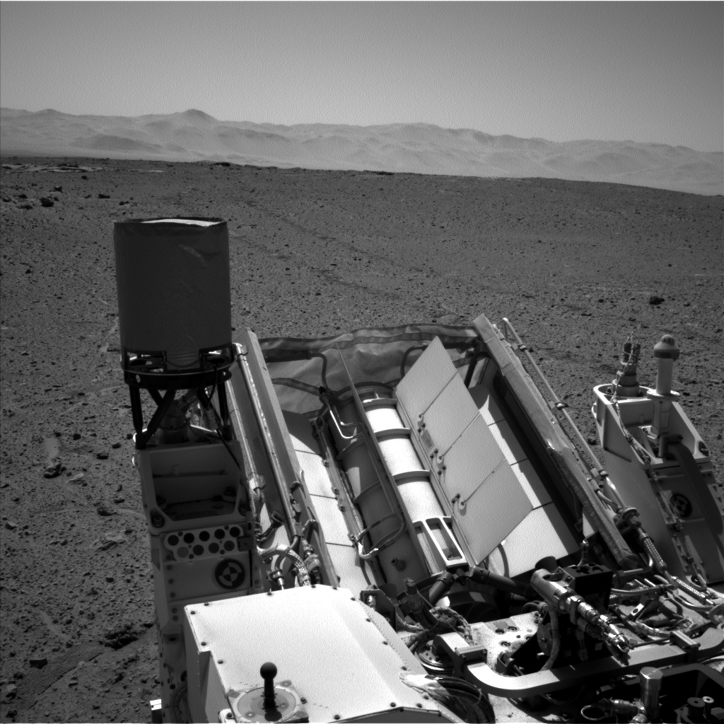 Nasa's Mars rover Curiosity acquired this image using its Left Navigation Camera on Sol 593, at drive 72, site number 31