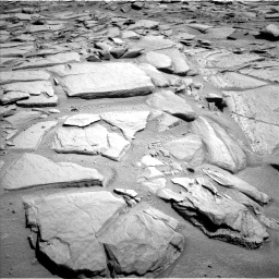 Nasa's Mars rover Curiosity acquired this image using its Left Navigation Camera on Sol 593, at drive 126, site number 31