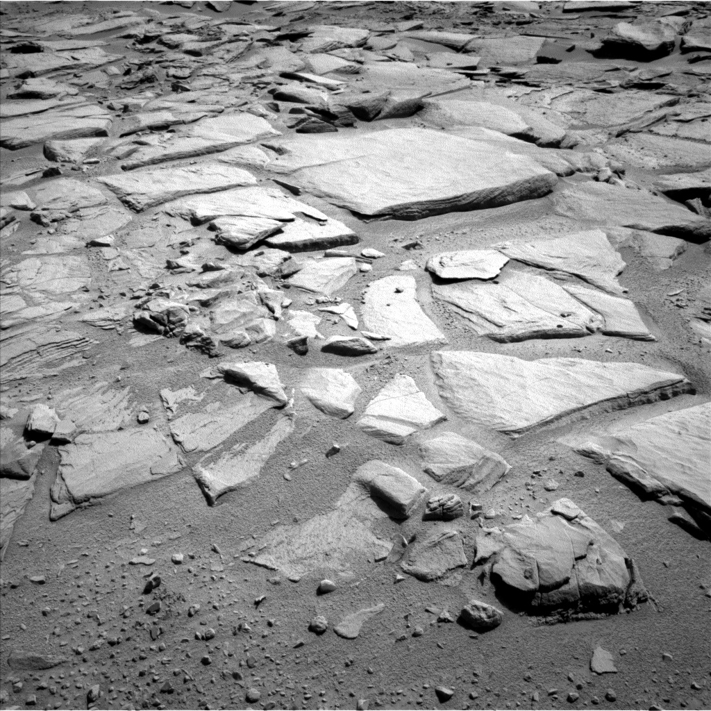 Nasa's Mars rover Curiosity acquired this image using its Left Navigation Camera on Sol 593, at drive 144, site number 31
