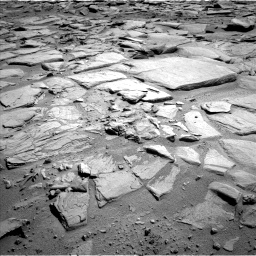 Nasa's Mars rover Curiosity acquired this image using its Left Navigation Camera on Sol 593, at drive 156, site number 31