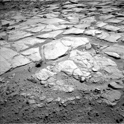 Nasa's Mars rover Curiosity acquired this image using its Left Navigation Camera on Sol 593, at drive 186, site number 31
