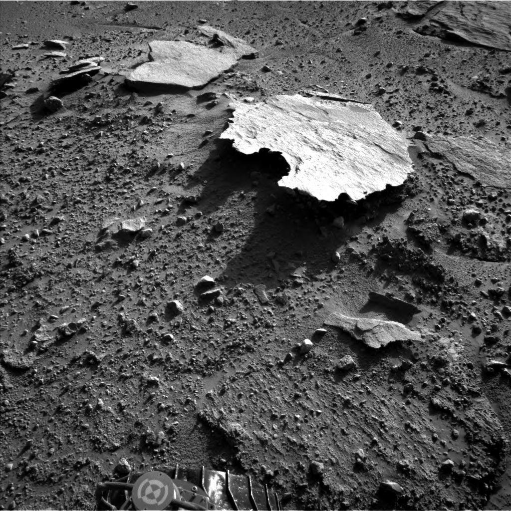 NASA's Mars rover Curiosity acquired this image using its Left Navigation Camera (Navcams) on Sol 593