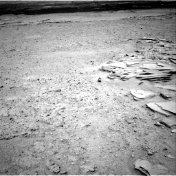 Nasa's Mars rover Curiosity acquired this image using its Right Navigation Camera on Sol 593, at drive 54, site number 31