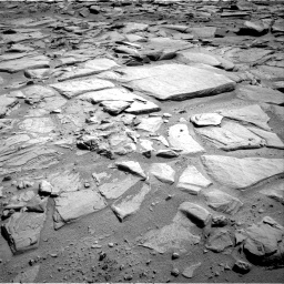 Nasa's Mars rover Curiosity acquired this image using its Right Navigation Camera on Sol 593, at drive 156, site number 31
