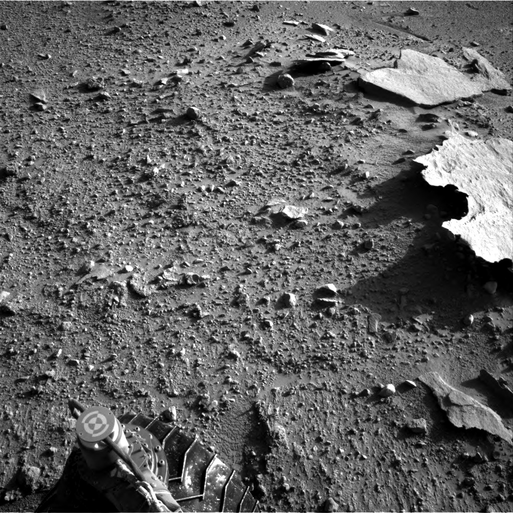 Nasa's Mars rover Curiosity acquired this image using its Right Navigation Camera on Sol 593, at drive 216, site number 31