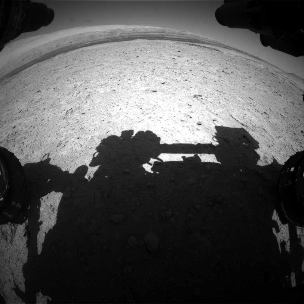 Nasa's Mars rover Curiosity acquired this image using its Front Hazard Avoidance Camera (Front Hazcam) on Sol 594, at drive 216, site number 31
