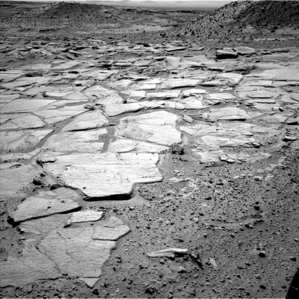 Nasa's Mars rover Curiosity acquired this image using its Left Navigation Camera on Sol 594, at drive 216, site number 31