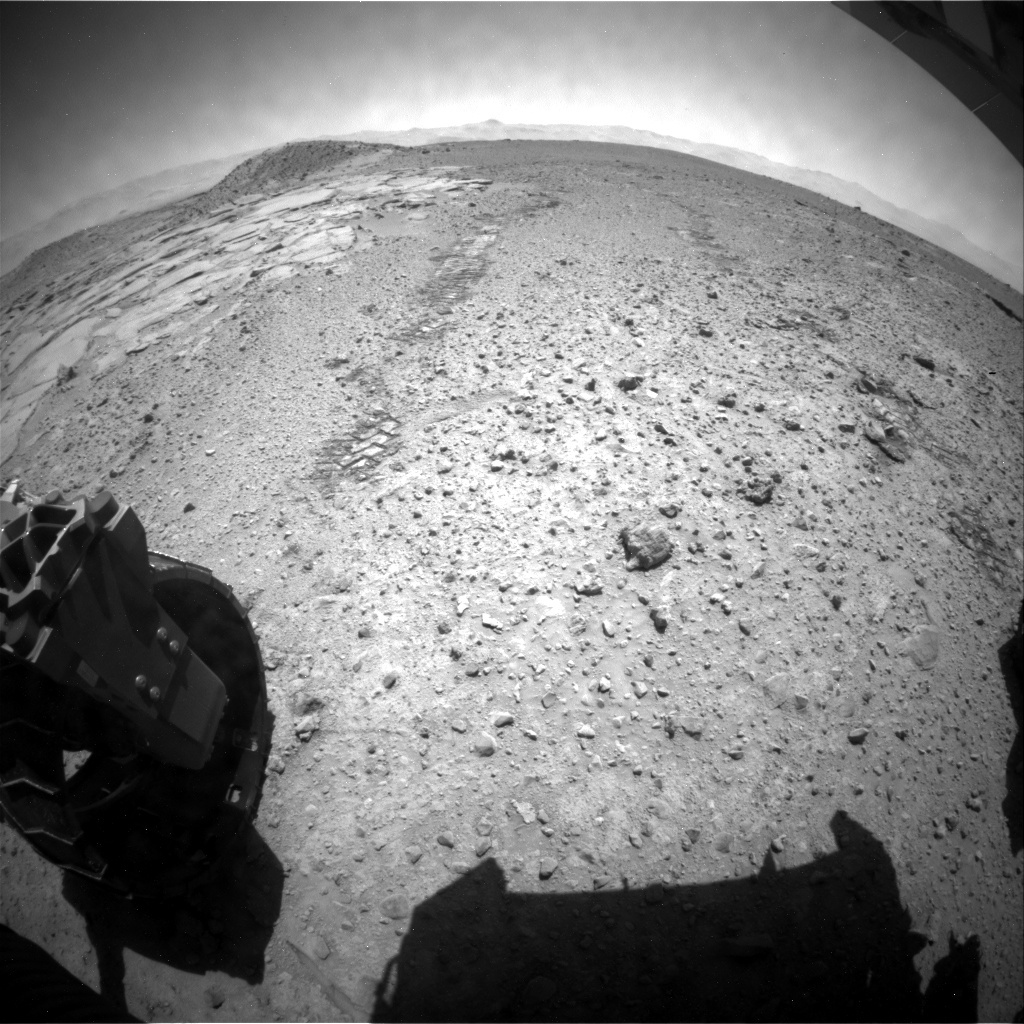 NASA's Mars rover Curiosity acquired this image using its Rear Hazard Avoidance Cameras (Rear Hazcams) on Sol 594
