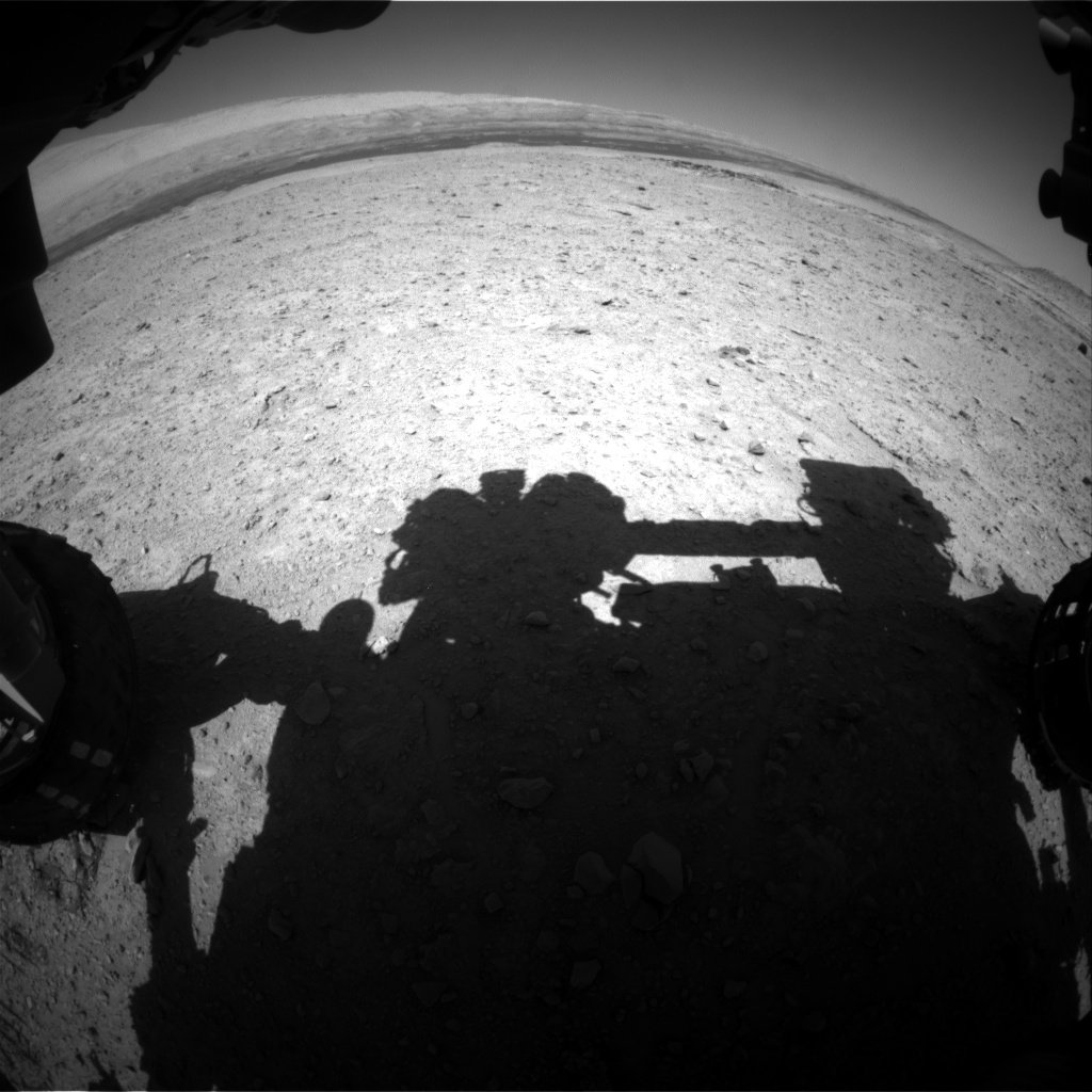 Nasa's Mars rover Curiosity acquired this image using its Front Hazard Avoidance Camera (Front Hazcam) on Sol 595, at drive 216, site number 31