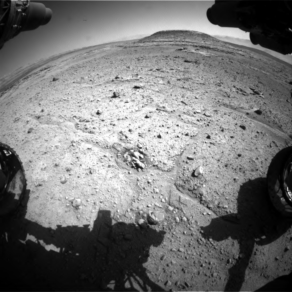 Nasa's Mars rover Curiosity acquired this image using its Front Hazard Avoidance Camera (Front Hazcam) on Sol 595, at drive 538, site number 31