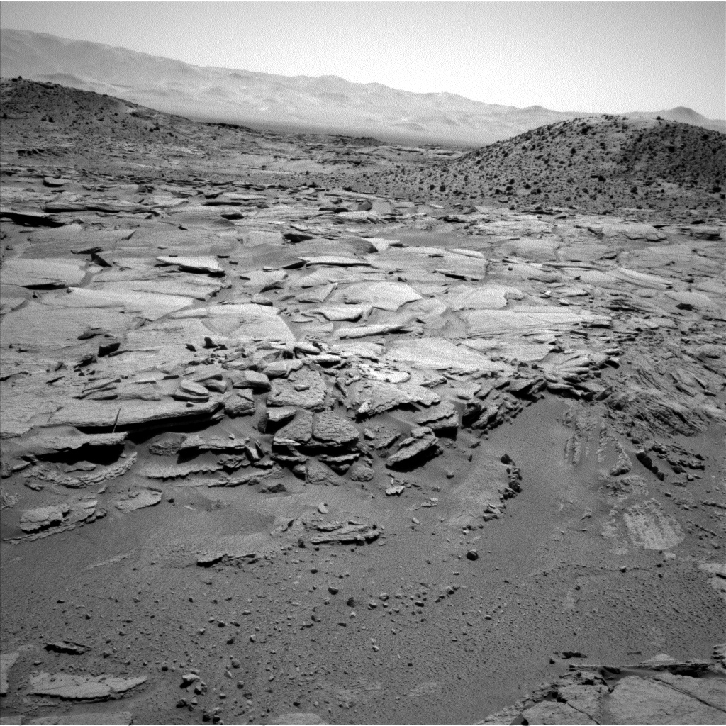 Nasa's Mars rover Curiosity acquired this image using its Left Navigation Camera on Sol 595, at drive 318, site number 31