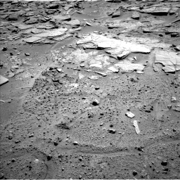 Nasa's Mars rover Curiosity acquired this image using its Left Navigation Camera on Sol 595, at drive 390, site number 31