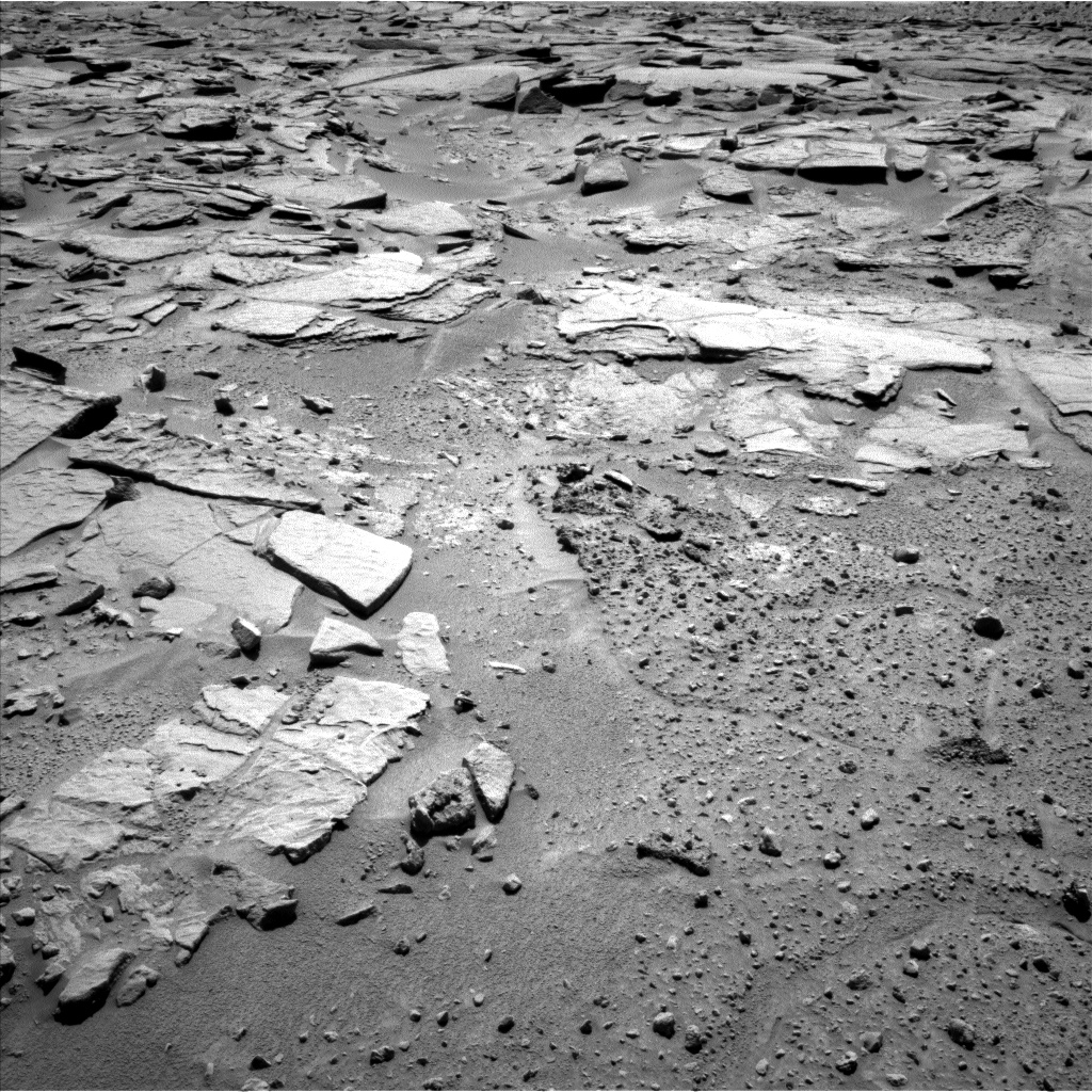 Nasa's Mars rover Curiosity acquired this image using its Left Navigation Camera on Sol 595, at drive 408, site number 31