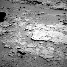 Nasa's Mars rover Curiosity acquired this image using its Left Navigation Camera on Sol 595, at drive 438, site number 31