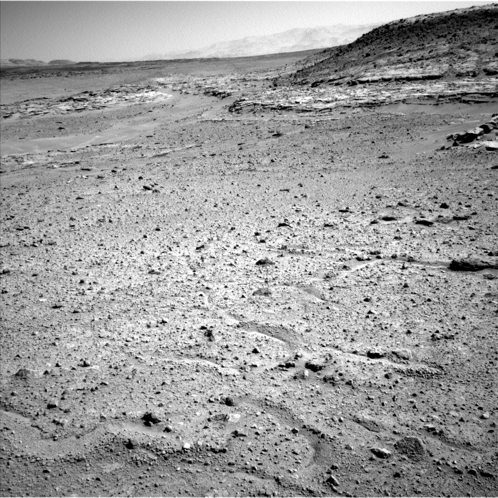 Nasa's Mars rover Curiosity acquired this image using its Left Navigation Camera on Sol 595, at drive 538, site number 31