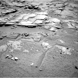 Nasa's Mars rover Curiosity acquired this image using its Right Navigation Camera on Sol 595, at drive 348, site number 31