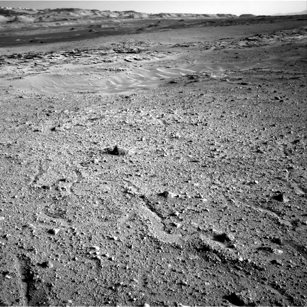NASA's Mars rover Curiosity acquired this image using its Right Navigation Cameras (Navcams) on Sol 595