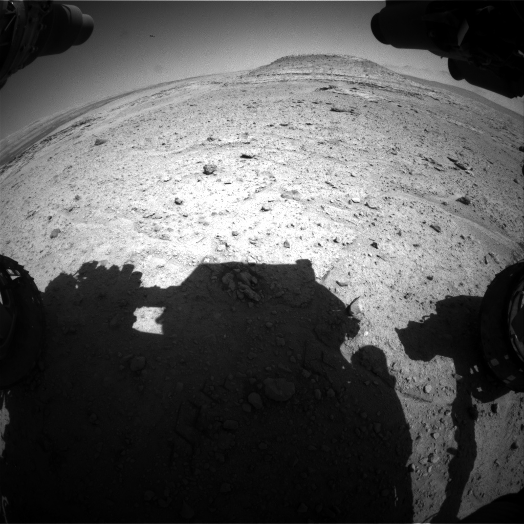 Nasa's Mars rover Curiosity acquired this image using its Front Hazard Avoidance Camera (Front Hazcam) on Sol 597, at drive 538, site number 31