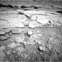 Nasa's Mars rover Curiosity acquired this image using its Left Navigation Camera on Sol 597, at drive 688, site number 31
