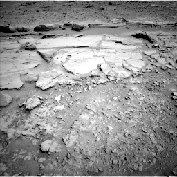 Nasa's Mars rover Curiosity acquired this image using its Left Navigation Camera on Sol 597, at drive 694, site number 31