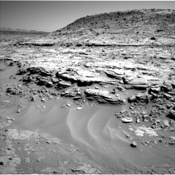 Nasa's Mars rover Curiosity acquired this image using its Left Navigation Camera on Sol 597, at drive 700, site number 31