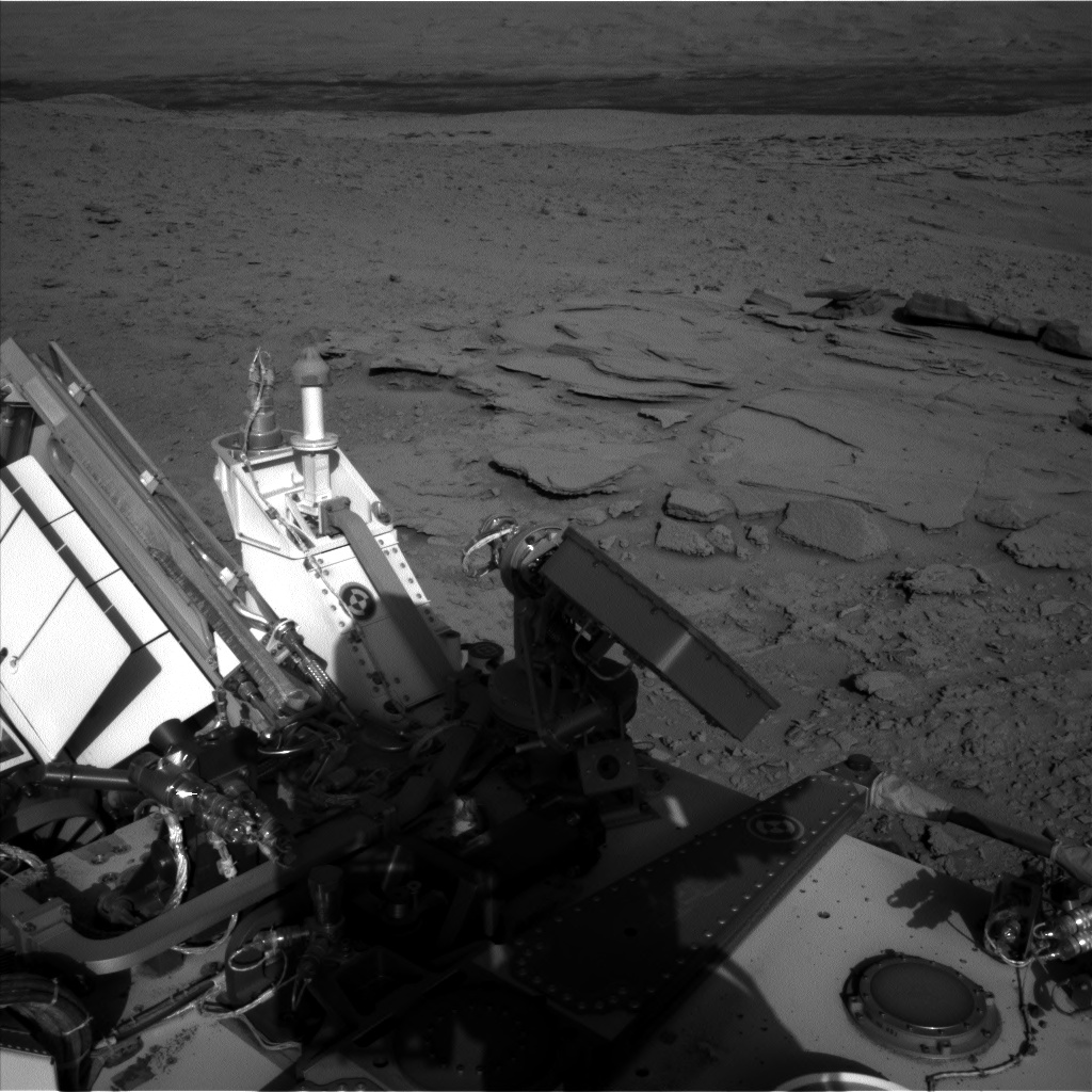 Nasa's Mars rover Curiosity acquired this image using its Left Navigation Camera on Sol 597, at drive 724, site number 31