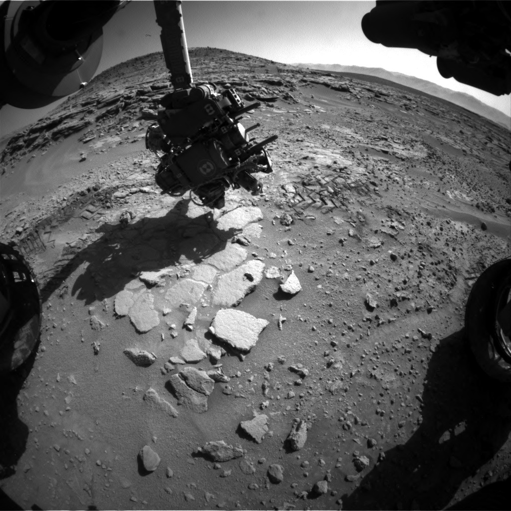 NASA's Mars rover Curiosity acquired this image using its Front Hazard Avoidance Cameras (Front Hazcams) on Sol 601