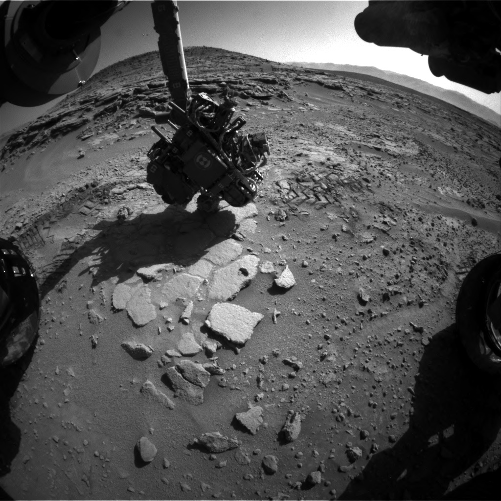 Nasa's Mars rover Curiosity acquired this image using its Front Hazard Avoidance Camera (Front Hazcam) on Sol 601, at drive 724, site number 31
